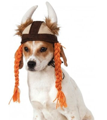 Viking Hat with Braids for Pets