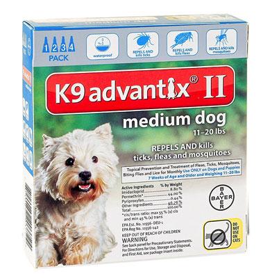 K9 Advantix II Flea and Tick Control Treatment