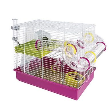 White Hamster Cage by Ferplast