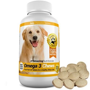Omega-3 Fish Oil Chewable Tablet for Dogs by Amazing Nutritionals