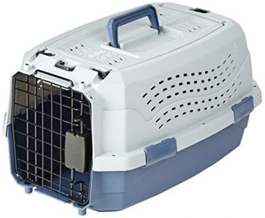 Two-Door Top-Load Pet Kennel by AmazonBasics