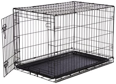 Folding Metal Dog Crate by AmazonBasics