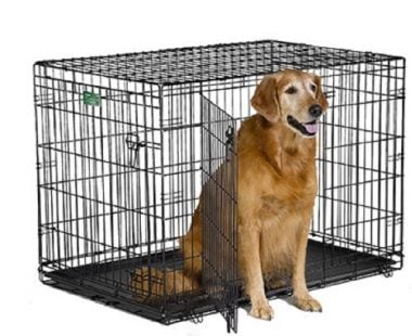 iCrate Folding Metal Dog Crate