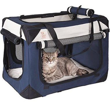 Soothing Happy Cat Premium Soft Sided Cat Carrier & Travel Crate from PetLuv