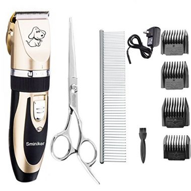 Rechargeable Cordless Dogs and Cats Grooming Clippers by Sminiker Professional