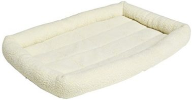 Padded Pet Bolster Bed by AmazonBasics