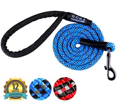 Strong Chew Resistant Reflective Dog Training Leash by GOMA Industries
