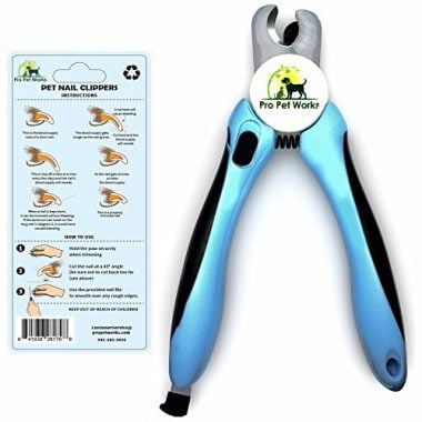 Dog Nail Clippers Trimmer with Nail File by Pro Pet Works