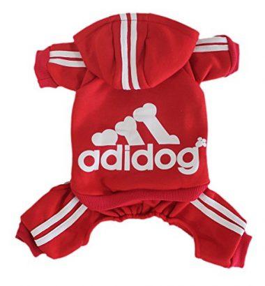 Adidog Pet Clothes for Dog Hoodies Coat Winter Sweatshirt by Scheppend