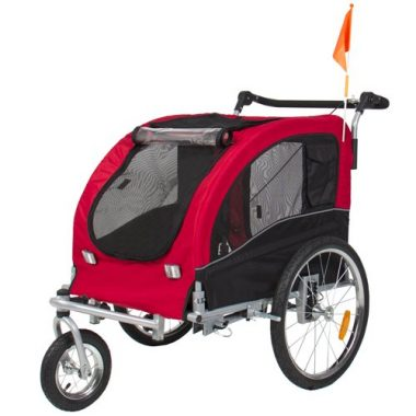 2 in 1 Pet Dog Bike Trailer by Best Choice Products