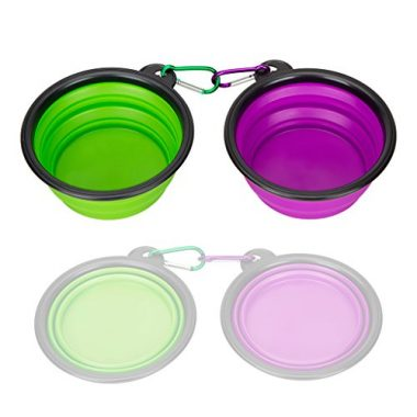 Collapsible Silicone Pet Bowl by IDEGG