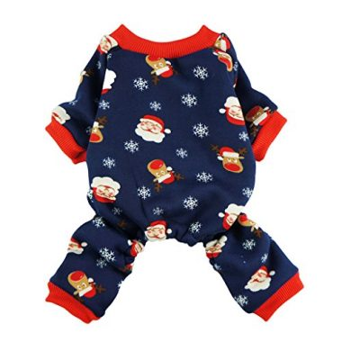 Cute Santa Reindeer Pet Clothes Christmas Dog Pajamas by Fitwarm