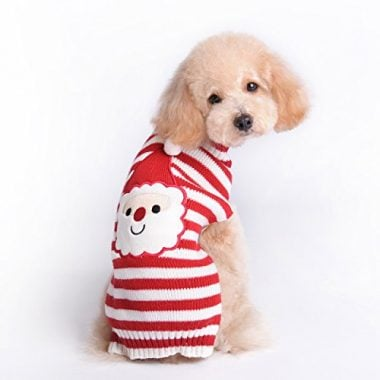 Santa Dog Sweater for Christmas by HAPEE