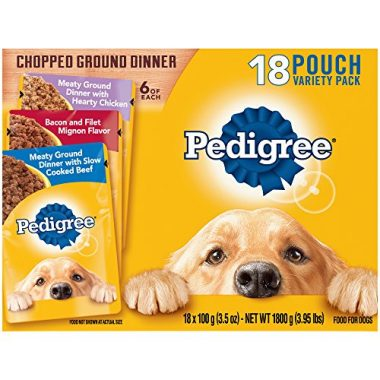 Chopped Ground Dinner Adult Wet Dog Food Pouches by Pedigree