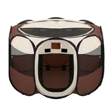 Portable Foldable Playpen for Dogs by Parkland Pet
