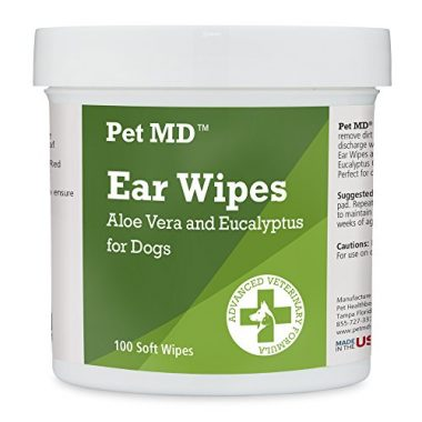 Dog Ear Cleaner Wipes by Pet MD