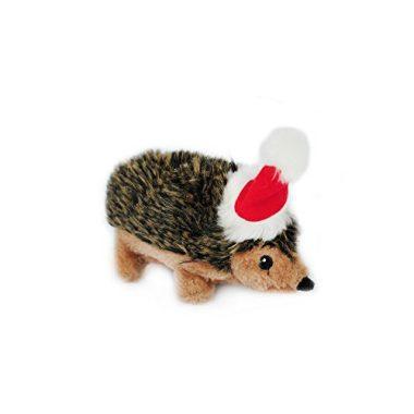 ZippyPaws Holiday Hedgehog Squeaky Plush Dog Toy