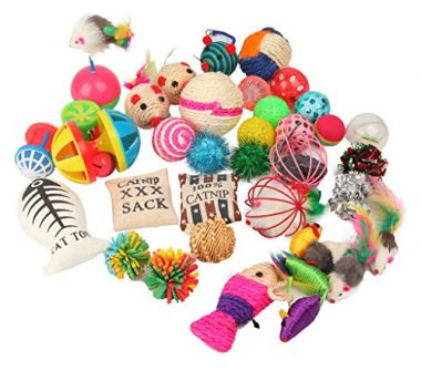 20-Pc Cat Toys Variety Pack for Kitty by Fashion's Talk