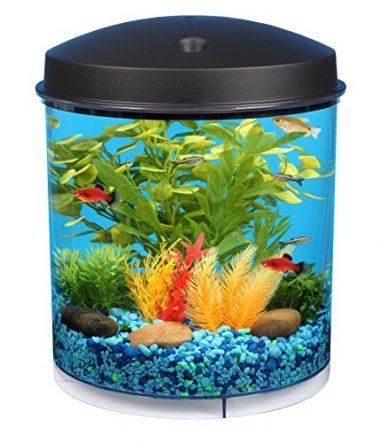 KollerCraft 2 Gallon 360 View Aquarium with Internal Filter