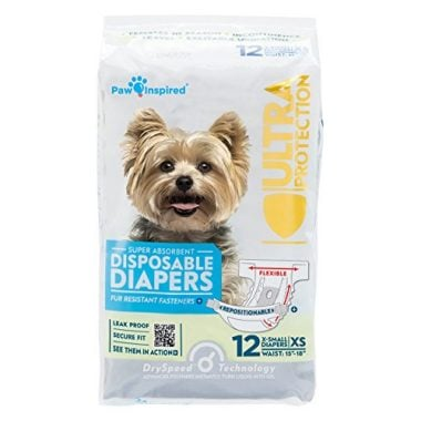 Ultra Protection Female Disposable Dog Diapers by Paw Inspired