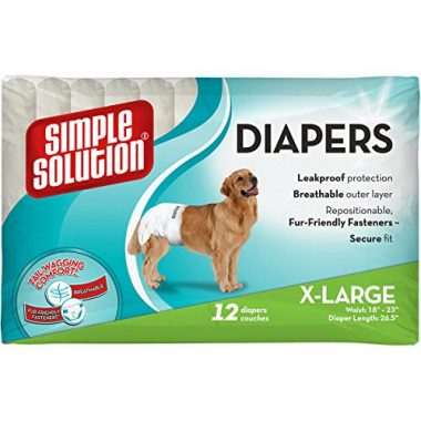 Disposable Female Dog Diapers by Simple Solution