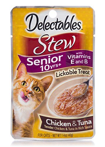 Delectables Stew Senior 10 Yrs+ Lickable Treat by HARTZ