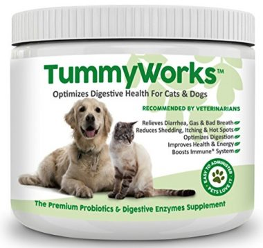 TummyWorks Premium Probiotics and Digestive Enzymes Supplement by Finest for Pets