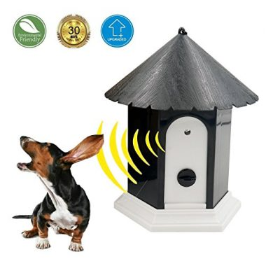 Ultrasonic Outdoor Anti Barking Deterrent by HappyHapi