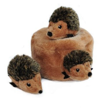 Hedgehog Den Burrow Squeaky Hide and Seek Plush Dog Toy by ZippyPaws