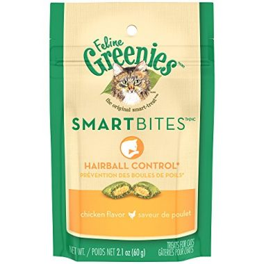 Feline Greenies SmartBites Hairball Control Cat Treats by Mars PetCare