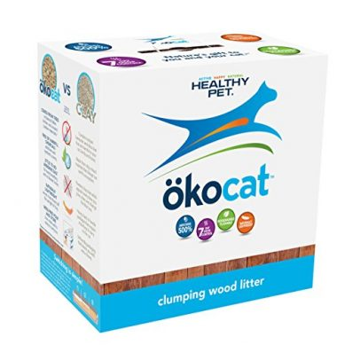 Okocat Natural Wood Clumping Cat Litter by Healthy Pet