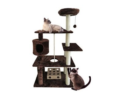 Furhaven Tiger Tough Deluxe Playground Cat Tree House Furniture for Cats and Kittens