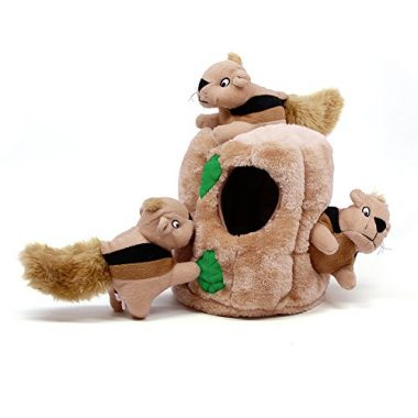 Outward Hound Hide-A-Squirrel and Puzzle Plush Squeaking Toys