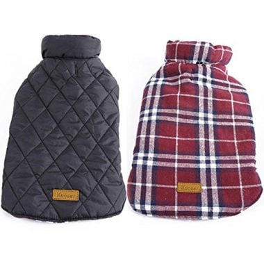 Cozy British Style Plaid Dog Vest by Kuoser