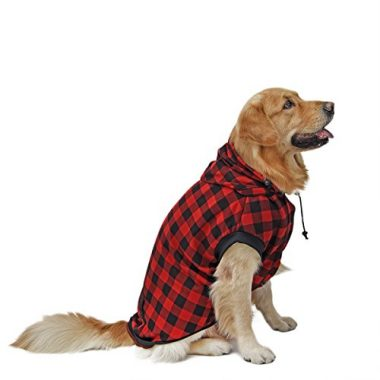 Plaid Shirt Coat Hoodie Pet Winter Clothes by Pawz Road