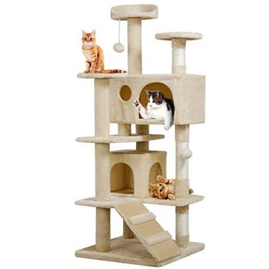 Yaheetech Cat Tree Kitten Scratcher Play House Condo Furniture