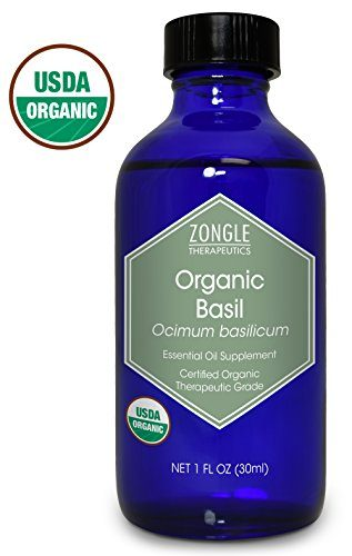 Zongle Therapeutics USDA Certified Organic Basil Essential Oil