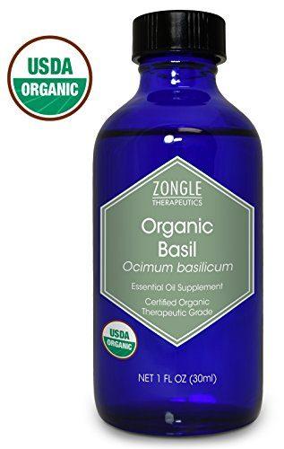 Zongle Therapeutics USDA Certified Organic Basil Essential Oil