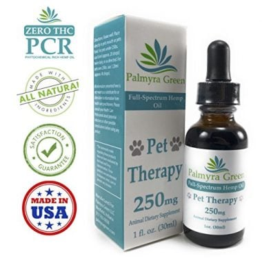 All Natural Pet Therapy Hemp Oil by Palmyra Green