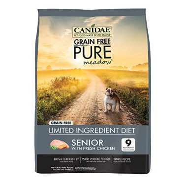 Grain Free PURE Meadow Limited Ingredient Diet Fresh Chicken for Seniors Dry Dog Food by CANIDAE