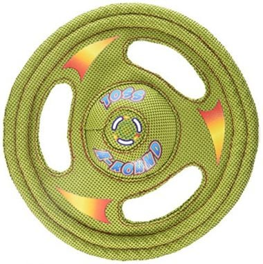 Tuff Stuff Toss Around Plush Frisbee Flyer Dog Toy by HARTZ