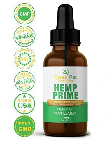Hemp Prime Hemp Oil for Dogs and Cats by Clean Pet Nutrition