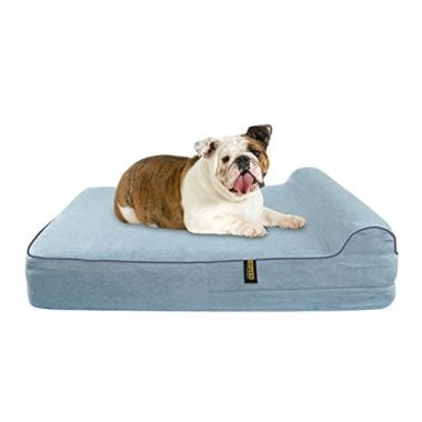 Orthopedic Memory Foam Dog Bed with Pillow and Waterproof Liner by KOPEKS