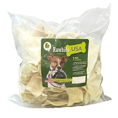 Natural Rawhide Chips Dog Treats – Thick Cut Long Lasting Beef Hide Chews by Pet Magasin