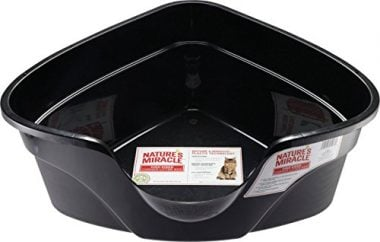 Nature's Miracle Advanced High Sided Corner Litter Box