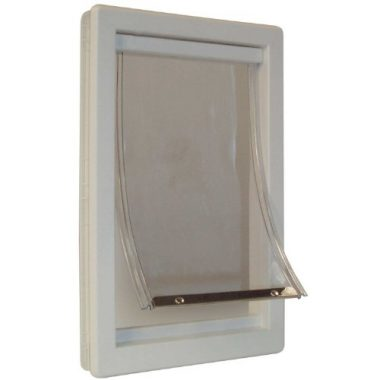 Soft Flap Cat Door with Telescoping Frame by Perfect Pet