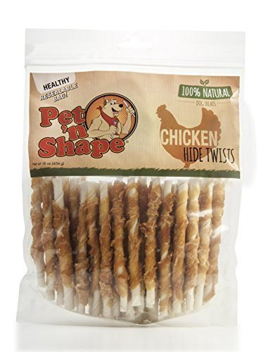 Pet 'n Shape Chicken or Duck Wrapped Rawhide Twists