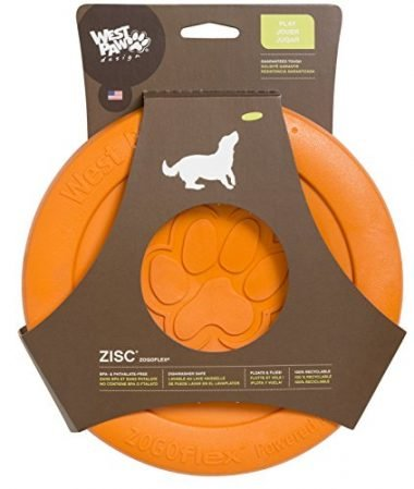 Zogoflex Zisc Tough Flying Disc Dog Play Toy by West Paw
