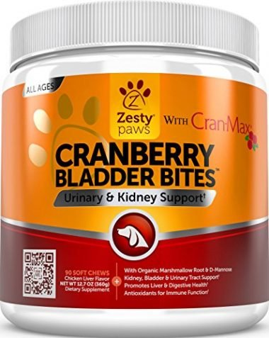 Zesty Paws Cranberry Bladder Bites for Urinary and Kidney Support