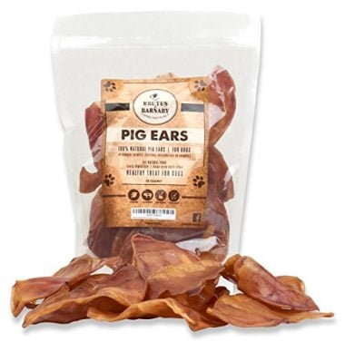 100% Natural Whole Pig Ear Dog Treat by Brutus & Barnaby